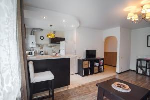 Гостиная зона в Nine Nights Apartments on Kuznetsova 57
