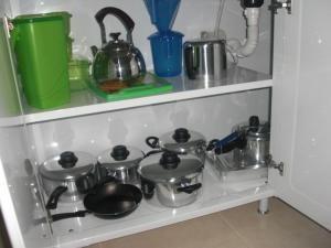 A kitchen or kitchenette at Bonito Residencial Flat
