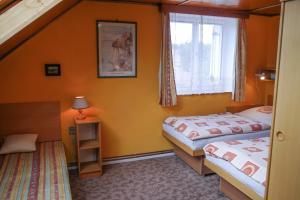 Postel nebo postele na pokoji v ubytování Penzion Kapitan