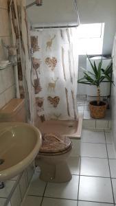 Ein Badezimmer in der Unterkunft HirschHöhle