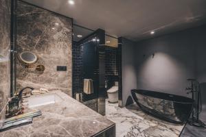 A bathroom at The Drama