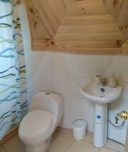 A bathroom at Domos Ocoa
