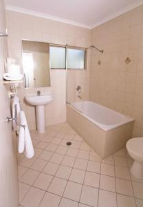A bathroom at Mission Reef Resort