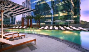 The swimming pool at or near Sofitel Kuala Lumpur Damansara