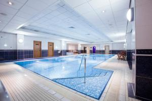 The swimming pool at or near Hilton Glasgow