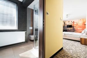 A bathroom at Hotel Piano