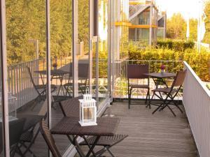 Ein Balkon oder eine Terrasse in der Unterkunft Lausitz Resort - Feriendorf Scado