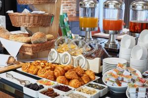 Breakfast options available to guests at INX Design Hotel