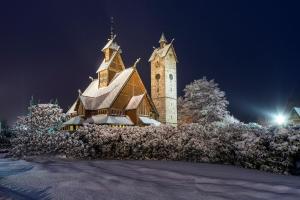Obiekt Orzechowy zimą