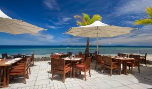 A restaurant or other place to eat at Castaway Island, Fiji