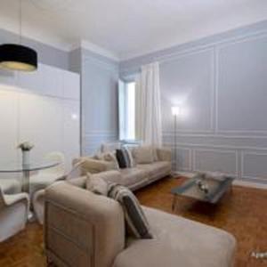 Zona de estar de Apartments Florence- Palazzo Pitti