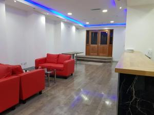 The lobby or reception area at The Charles Hotel