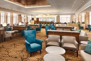 The lounge or bar area at Ramada Jerusalem Hotel