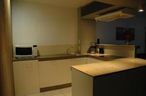 Cuisine ou kitchenette dans l'établissement Studio De Zunneblomme