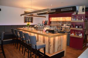 The lounge or bar area at Hotel Traube
