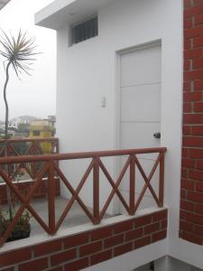 Ein Balkon oder eine Terrasse in der Unterkunft Posada Peregrinus