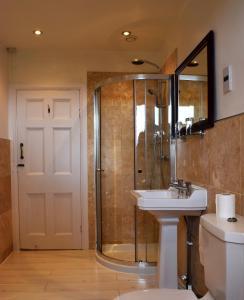 A bathroom at Healds Hall Hotel