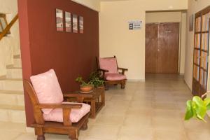 Un lugar para sentarse en Hostel Pioneros del Valle