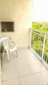 Uma varanda ou terraço em Apto - Praia - ES - Manguinhos