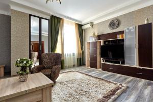 Гостиная зона в Apartment Кубанская Набережная 58