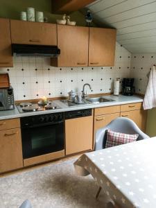 Küche/Küchenzeile in der Unterkunft Ferienwohnung Haus Friederike ab 6 Übernachtungen, inclusive Meine Card Plus