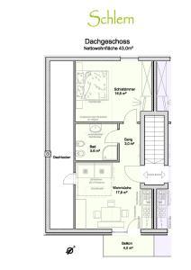 The floor plan of Parlunkhof
