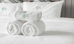 Кровать или кровати в номере Family Home Forest Escape