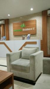 The lobby or reception area at WJY Apartment Margonda Residence 5