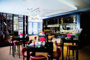 A restaurant or other place to eat at Malmaison London
