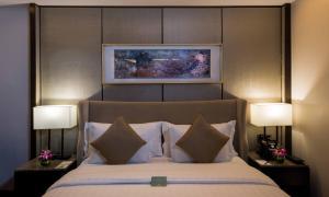 Cama ou camas em um quarto em Boudl Gaber