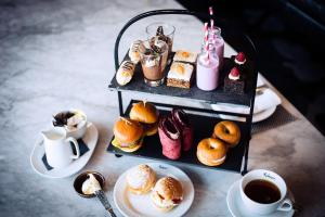 Breakfast options available to guests at Malmaison London