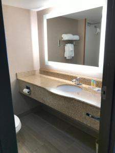 A bathroom at Wingate by Wyndham - Universal Studios and Convention Center