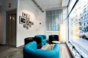 A seating area at Koba Hostel