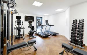 The fitness center and/or fitness facilities at Residence Inn by Marriott Aberdeen