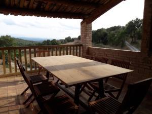 A balcony or terrace at Mas Roca Del Mill