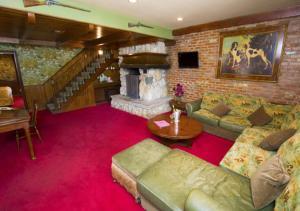 The lobby or reception area at Madonna Inn