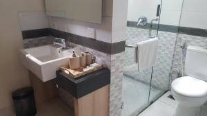 A bathroom at Nyaman Guest House