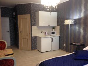 A kitchen or kitchenette at Hotel Crocus Star