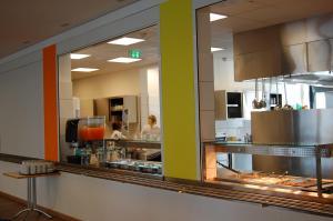 A kitchen or kitchenette at Jugendherberge Ratzeburg am See