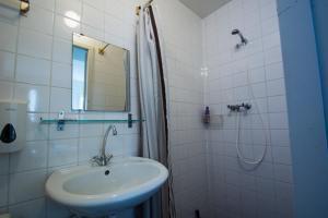 A bathroom at Stone Hotel & Hostel