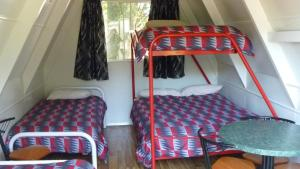 A bunk bed or bunk beds in a room at Westport Kiwi Holiday Park & Motels