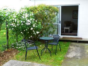 A garden outside Miranda Homestead B&B