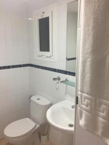 A bathroom at Hotel San Miguel