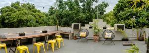 Ein Restaurant oder anderes Speiselokal in der Unterkunft Kaza Rio