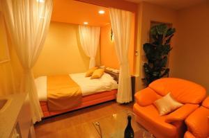Hotelkuraにあるベッド