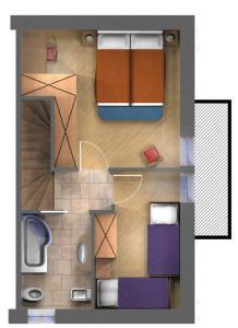 Půdorys ubytování Art Apartments Kandinsky