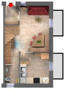 Koupelna v ubytování Art Apartments Kandinsky