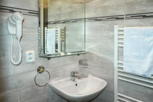 Koupelna v ubytování Hotel Jiřičná
