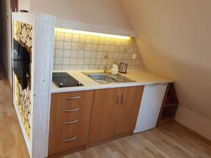 A kitchen or kitchenette at Pokoje Gościnne Trebunia