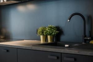 Kuchnia lub aneks kuchenny w obiekcie Apartament Flat White MTP